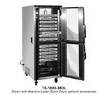 FWE TS163336 Mobile Heated Pizza Cabinet w/ 3-Shelves, 18-Pair Tray Slides, 36-Pizza Box/Pan Cap.