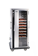 FWE TS182618 Mobile Heated Cabinet w/ 12-Pair Universal Slides, Insulated, Stainless, 120V