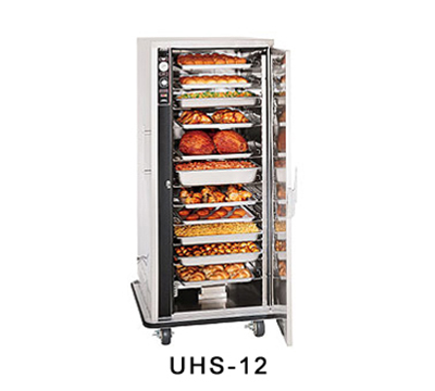 FWE - Food Warming Equipment UHS12 Mobile Heated Cabinet w/ 12-Pair Univer. Slides, Full-Height, Stainless, 120V