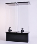 Jule-art 880-1851 Double Simple Drink Dispenser w/ 2-Gallon Capacity, Black & Clear