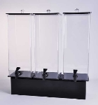 Jule-art 880-1852 Triple Simple Drink Dispenser w/ 2-Gallon Capacity, Black & Clear