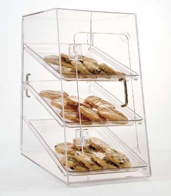 Jule-art AFC13 Rear Opening Tray Cabinet w/ Angled Front & (3) 13 x 18-in Trays