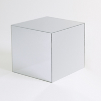 Jule-art MCM12 Mirrored Cube w/ Open Bottom, 12 x 12 x 12-in
