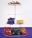Jule-Art TOR25 Oval Cake Style Riser w/ 4-Platforms & 8-in Shelf Spacing