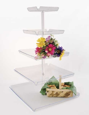 "Jule-art TRAYT4 Tray Tower w/ 4-Tiers & 8"" Spacing, 34 x 18.5 x 18.5"""