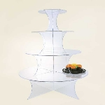 Jule-art WCR4 Interlocking Wedding Cake Riser w/ 4-Shelves, 27.5-in High