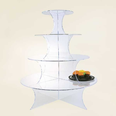 Jule-art WCR5 Interlocking Wedding Cake Riser w/ 4-Shelves, 34.25-in High