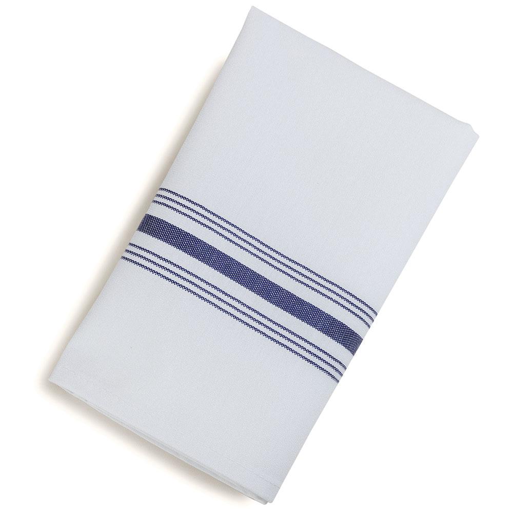 """Marko 53771822NH052 Bistro Striped Napkins - 18x22"""", Hemmed Edge, White w/Purple"""