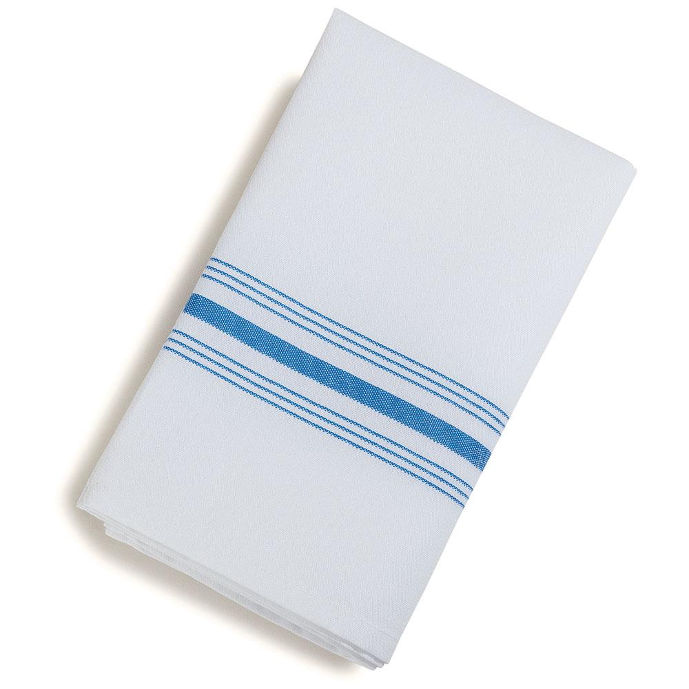 """Marko 53771822NH062 Bistro Striped Napkins - 18x22"""", Hemmed Edge, White w/Blue"""