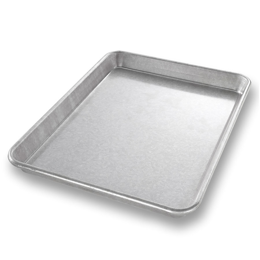 "Chicago Metallic 20900 Glazed Jelly Roll Pan, 9 x 12.5"", Aluminized Steel, 1"" Deep"