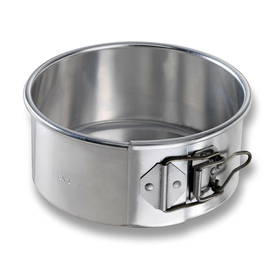 "Chicago Metallic 40406 Spring Form Cake Pan, 6 x 3"", Aluminum"