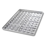 Chicago Metallic 40434 Full-Size Slider Bun Pan, 8 Clusters of 12, Aluminized Steel