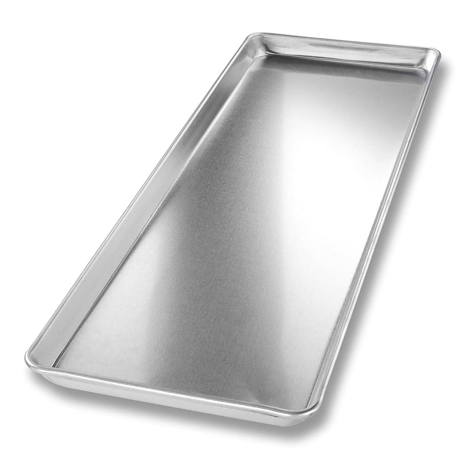 "Chicago Metallic 40922 Display Pan, 9 x 26"", Anodized Aluminum, Semi-Closed Rim"