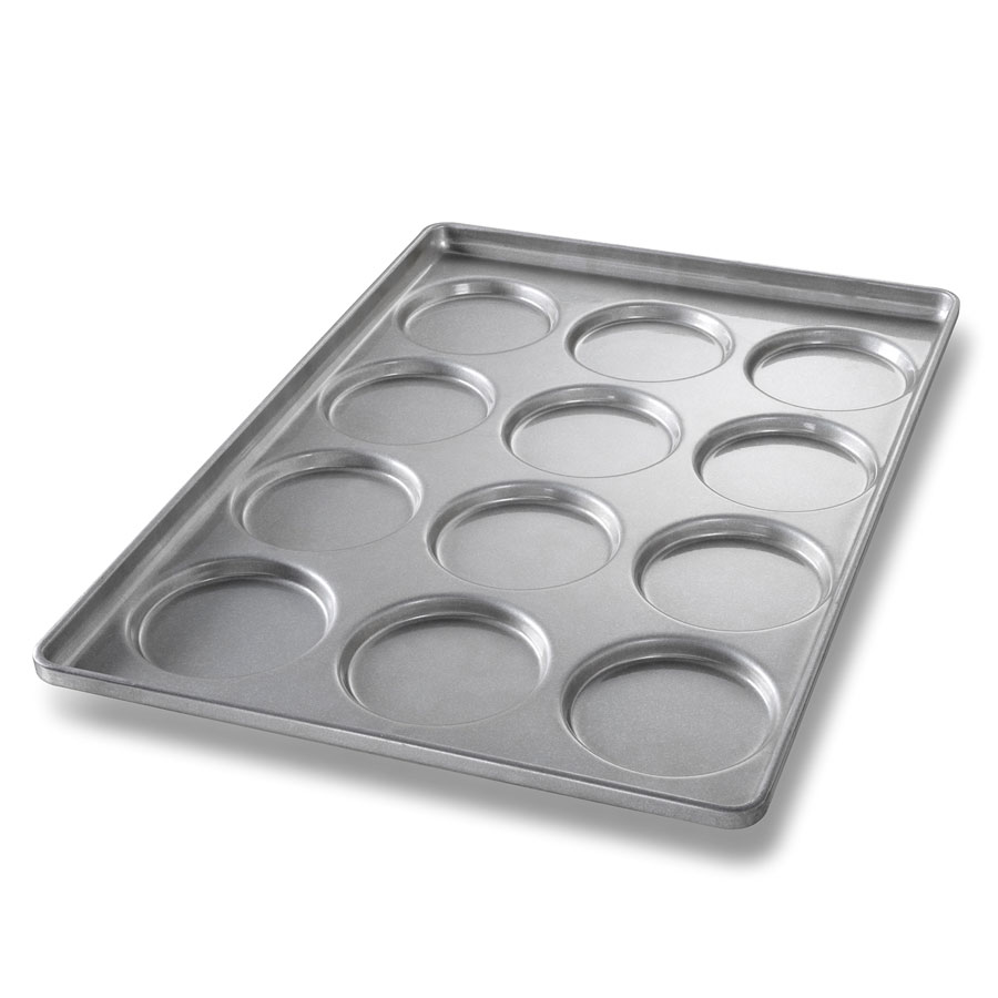 Chicago Metallic 41005 Bun & Roll Pan, Holds 3-Rows of 4, Aluminized Steel