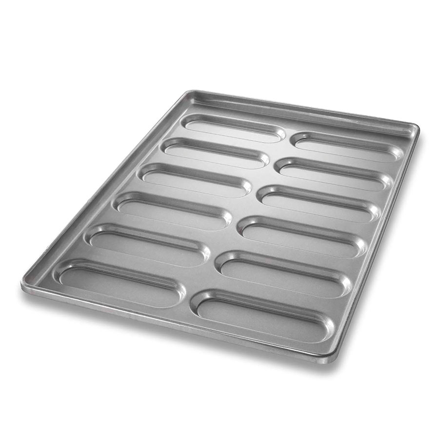 Chicago Metallic 41055 Hoagie Roll Pan, Holds 6-Rows of 2, Aluminized Steel