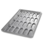 "Chicago Metallic 42415 Hot Dog Bun Pan - 16.75x27.75x1"", Wire In Rim, 22-ga Aluminized Steel, Glazed"