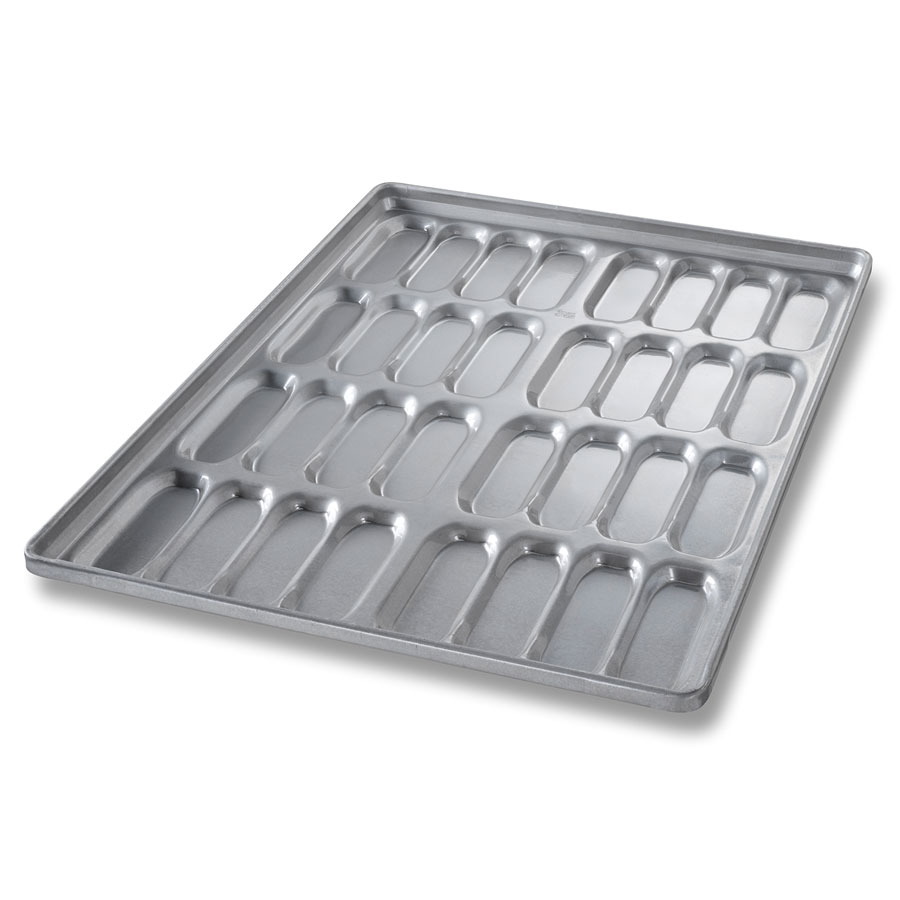 Chicago Metallic 42465 Cluster Hot Dog Bun Pan, 8-Cluster...