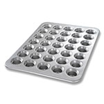 Chicago Metallic 42756 Mini Crown Muffin Pan, Holds (35) 3-oz, Aluminized Steel