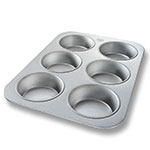 Chicago Metallic 44305 Oversized Jumbo Muffin Pan, (6) 10.5-oz, Aluminized Steel