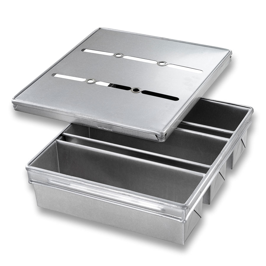 "Chicago Metallic 44635 Pullman Pan Set, 13-23/32 x 15-5/8"", Aluminized Steel"