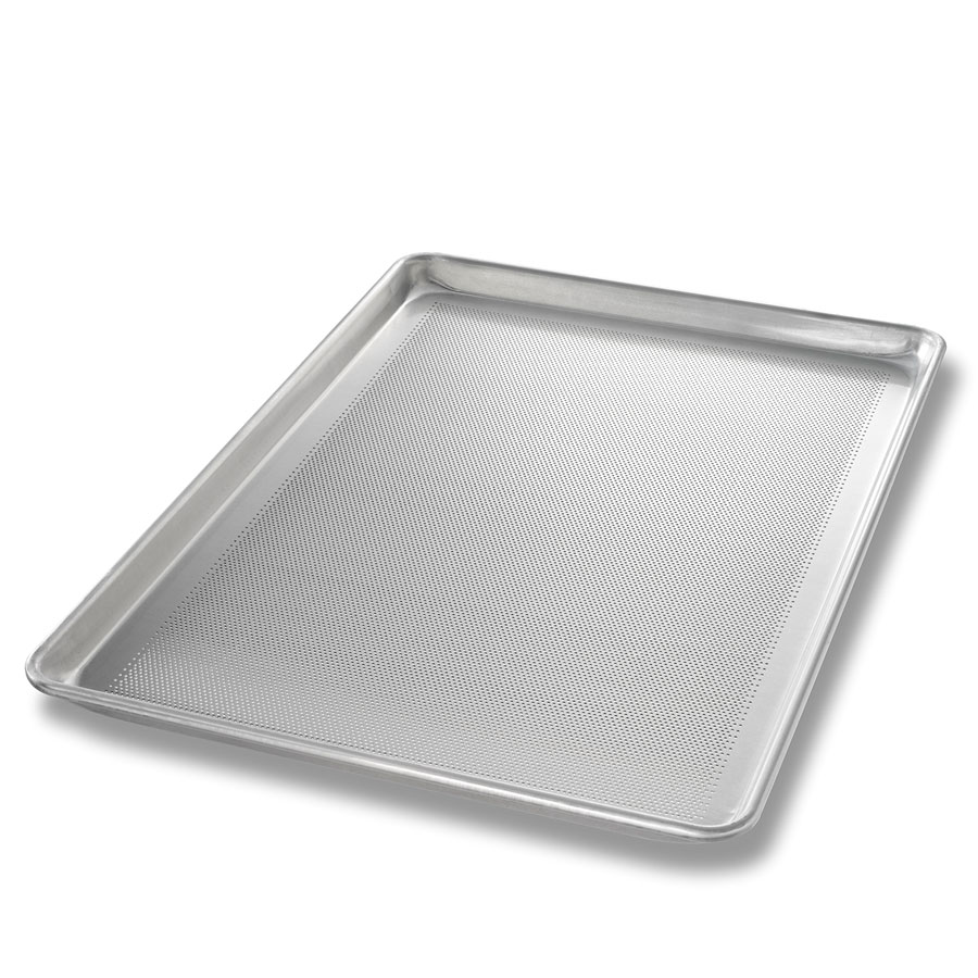 Chicago Metallic 44691 Full-Size Sheet Pan, Glazed, Perforated Bottom Only, Aluminum