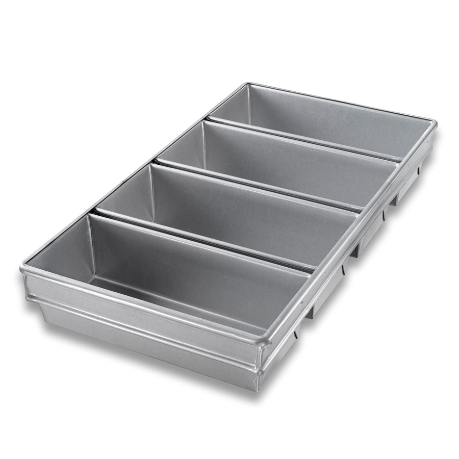Chicago Metallic 44765 Bread Pan Set, 4-Loaves, Aluminized Steel