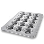 Chicago Metallic 45435 Oversized Large Crown Muffin Pan, (24) 7.3-oz, Aluminized Steel