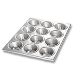 Chicago Metallic 46120 Muffin Cupcake Pan, Holds (12) 3.8-oz, Aluminized Steel