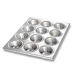 Chicago Metallic 46125 Muffin Cupcake Pan, (12) 3.8-oz, Glazed Aluminized Steel