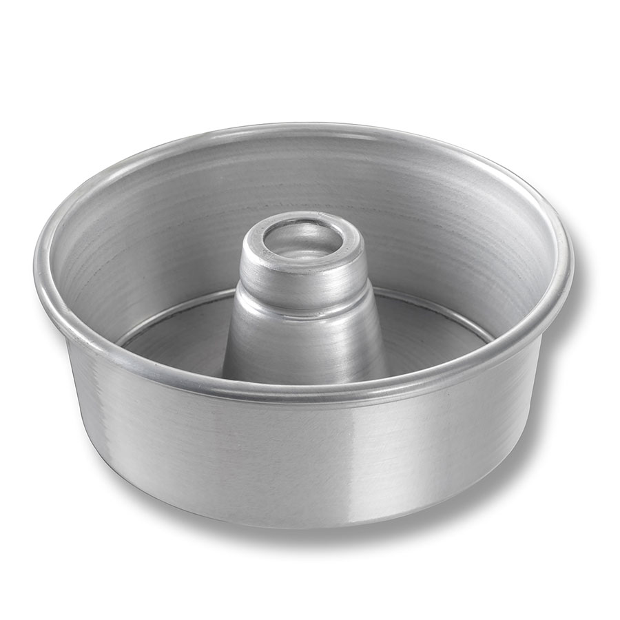"Chicago Metallic 46500 Angel Food Tube Cake Pan, 7.5 x 2.75"", Seamless, Aluminum"