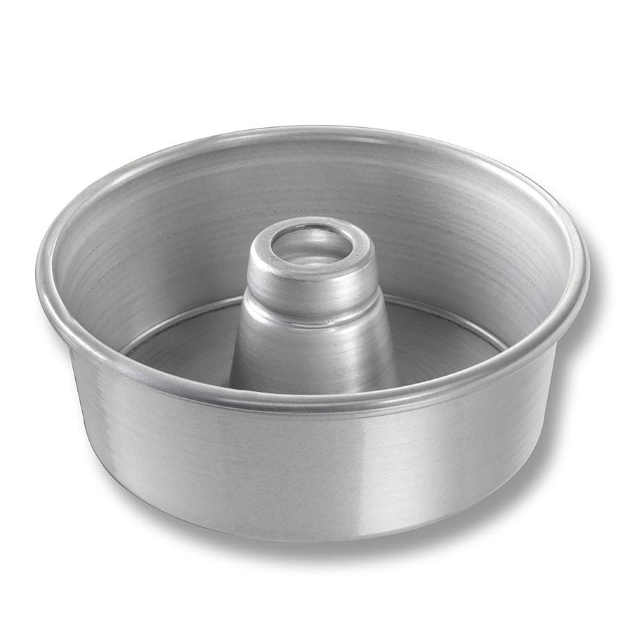 "Chicago Metallic 46505 Glazed Angel Food Tube Cake Pan, 7.5 x 2.75"", Aluminum"