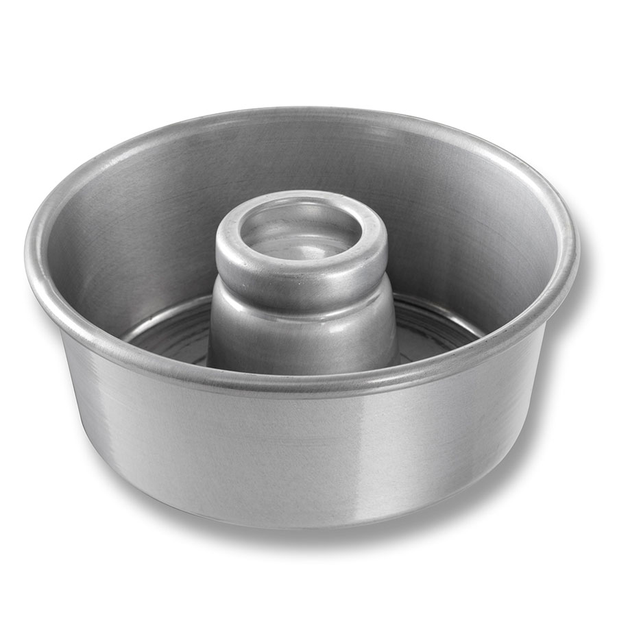 "Chicago Metallic 46535 Glazed Angel Food Tube Cake Pan, 7.5 X 3-1/6"" Deep, Aluminum"
