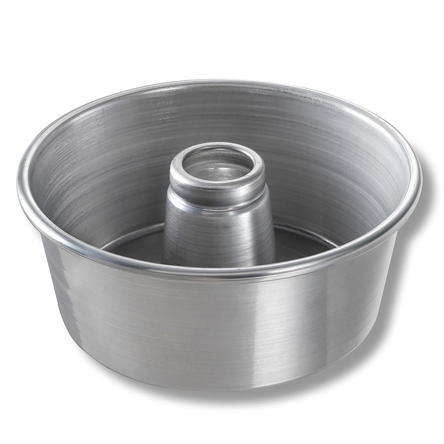"Chicago Metallic 46550 Angel Food Tube Cake Pan, 9.25 x 4"", Solid Bottom, Aluminum"