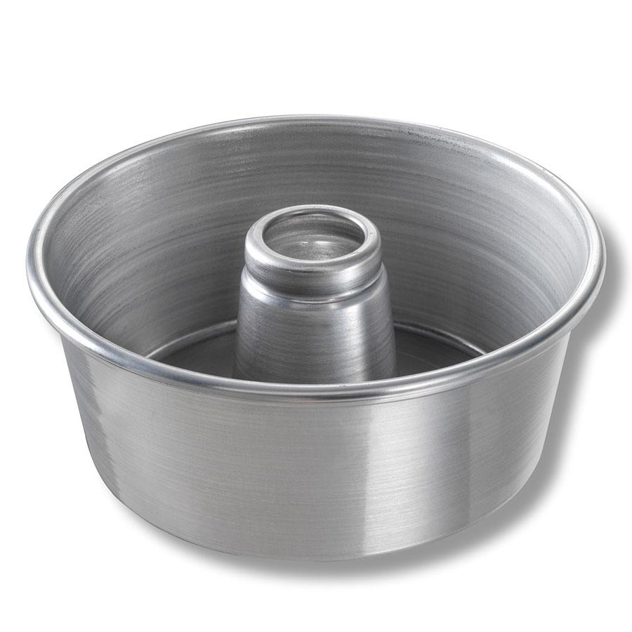"Chicago Metallic 46555 Angel Food Tube Cake Pan, 9.25 x 4"", Aluminum, Glazed"