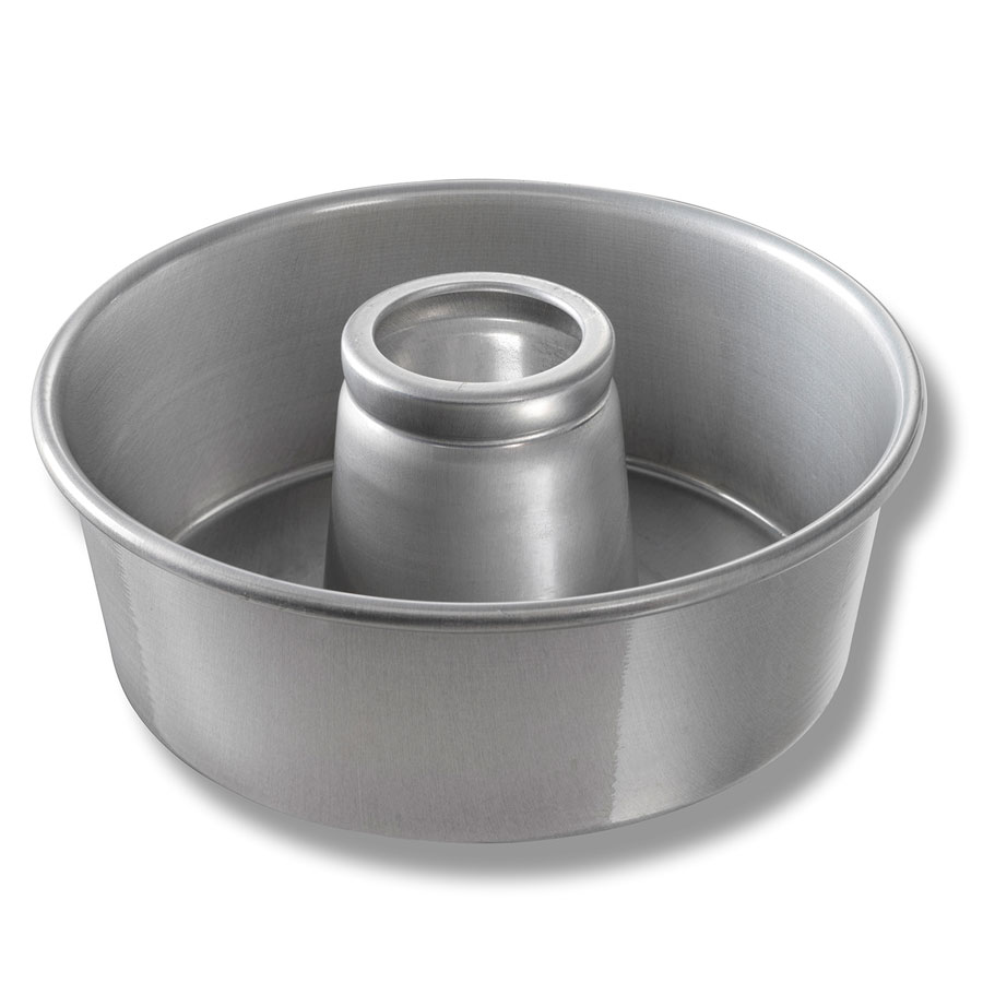 "Chicago Metallic 46565 Angel Food Tube Cake Pan, Seamless, 10 x 3.75"", Aluminum"