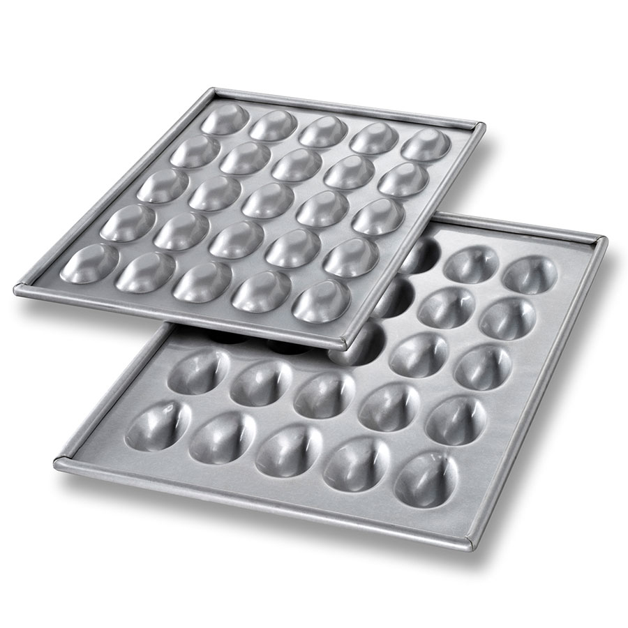 Chicago Metallic 47255 Mini Egg Football Cake Pan Set, 25-On, Aluminized Steel