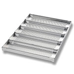 Chicago Metallic 49014 Glazed Sub Sandwich Roll Pan, Holds (5) 12 .5 x 3-in, Aluminum