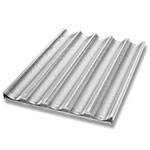 Chicago Metallic 49035 Uni-Lock Baguette Bread Pan, 5-Loaves, Aluminum