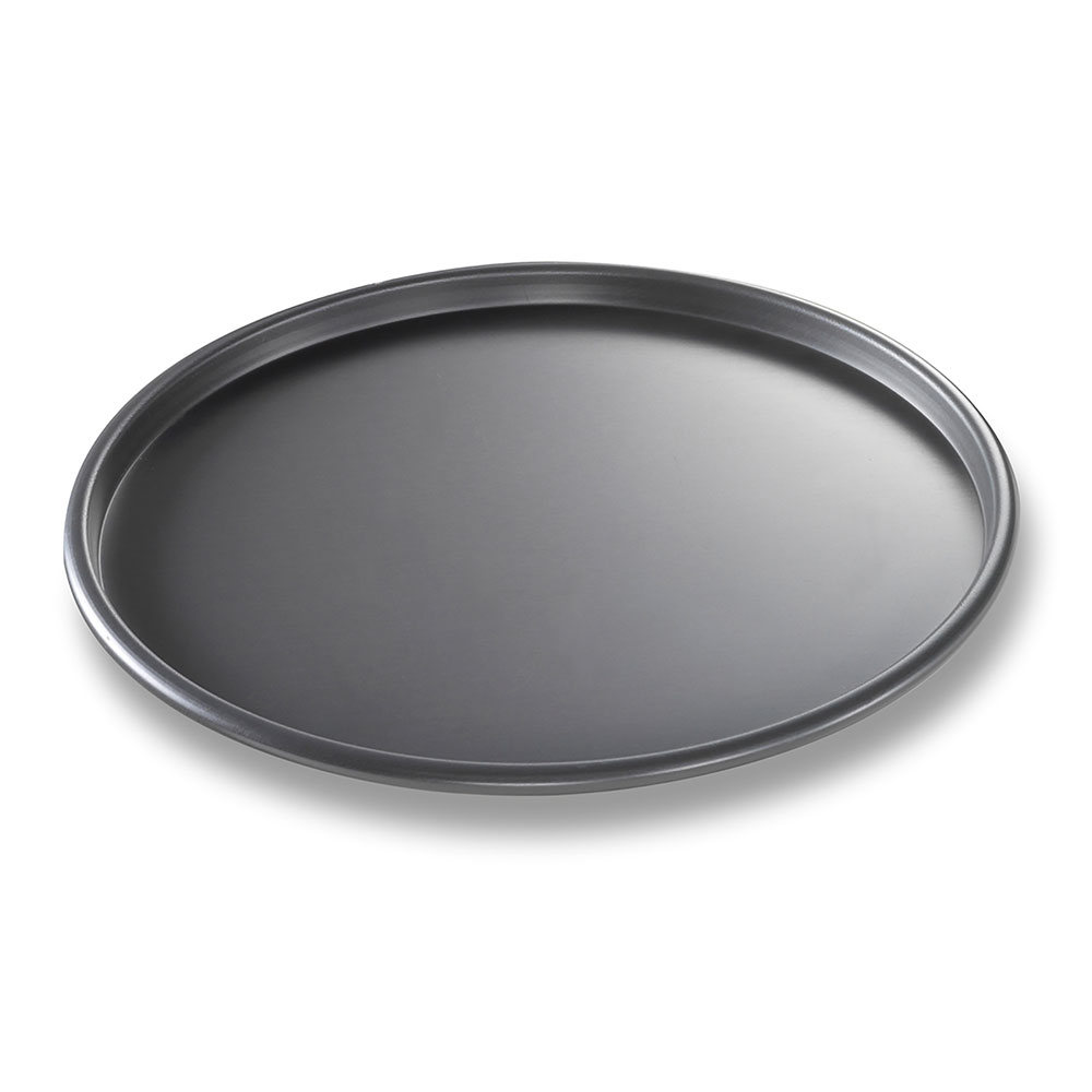"Chicago Metallic 49103 BAKALON® 10"" Round Thin Crust Pizza Pan, Aluminum"