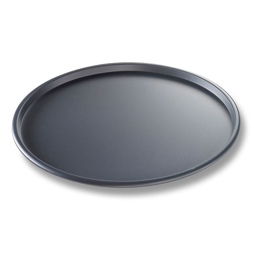 "Chicago Metallic 49123 BAKALON® 12"" Round Thin Crust Pizza Pan, Aluminum"