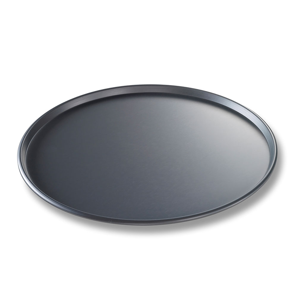 "Chicago Metallic 49143 BAKALON® 14"" Round Thin Crust Pizza Pan, Aluminum"