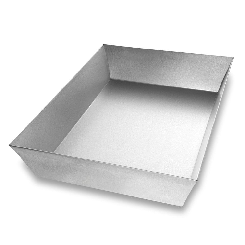 "Chicago Metallic 91015 Rectangular Pizza Pan, 9.75"" x 13.875"" x 2.5"", Aluminized Steel"