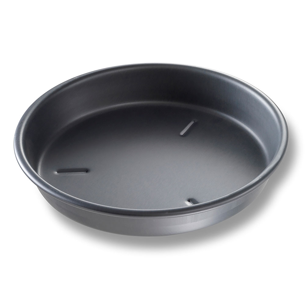 "Chicago Metallic 91105 BAKALON® 10"" Round Deep Dish Pizza Pan, Anodized Aluminum"