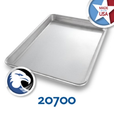 Chicago Metallic 20700 Glazed Jelly Roll Pan, 9-15/16 x 14.25-in, Aluminized Steel
