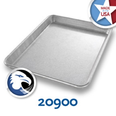 Chicago Metallic 20900 Glazed Jelly Roll Pan, 9 x 12.5-in, Aluminized Steel, 1-in Deep