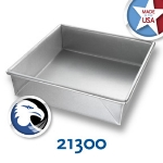 Chicago Metallic 21300 Glazed Cake Pan, 8 x 8-in, Aluminized Steel