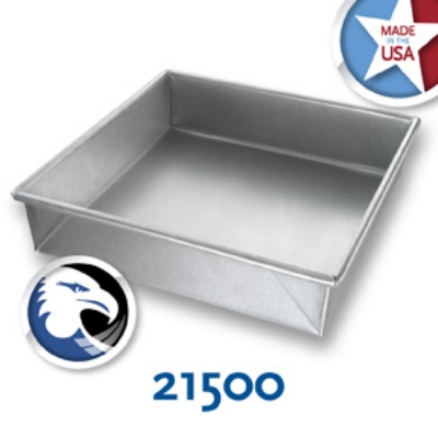 Chicago Metallic 21500 Glazed Cake Pan 9 x 9-in, Aluminized Steel