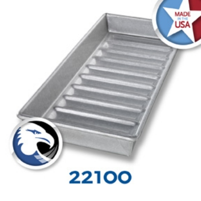Chicago Metallic 22100 Glazed Hot Dog Bun Pan, 6 x 15-in, 1 Row of 10, Aluminized Steel
