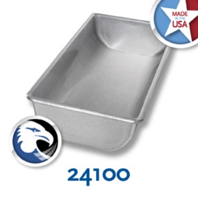 Chicago Metallic 24100 Glazed Hearth Bread Pan, Aluminized Steel, 5-5/8 x 12-in