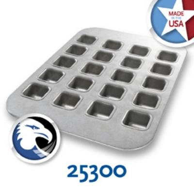 Chicago Metallic 25300 Brownie Bite Pan, Holds (20) 11-1/8 x 15.75-in, Aluminized Steel